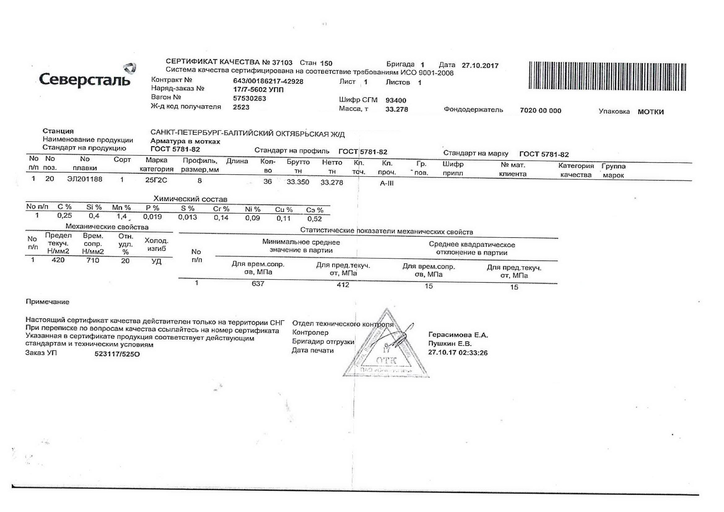 СЕРТИФИКАТ КАЧЕСТВА KZ0120-17 ЕВРАЗ АРМАТУРА СКАЧАТЬ БЕСПЛАТНО