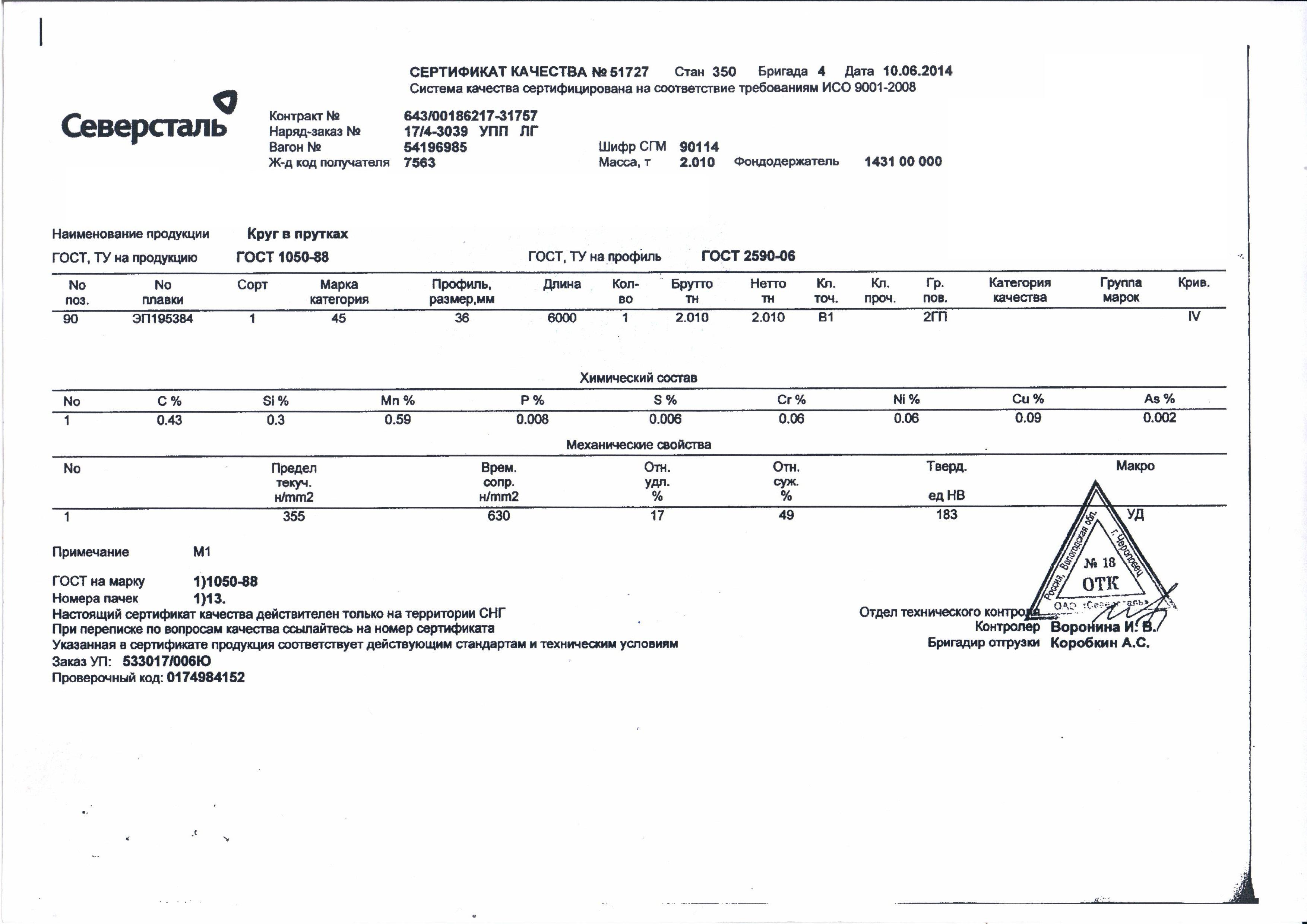 сертификаты соответствия арматуру а111