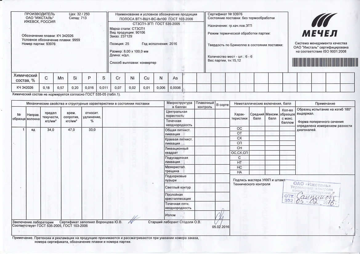 Сертификаты гост 103-76 сертификация в газпромсерт