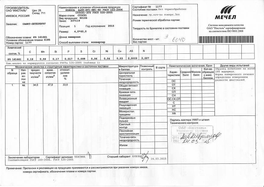 Сертификат на полосу 5х40 гост103-76 стандартизация, сертификация и метрология г.д.крылова скачать
